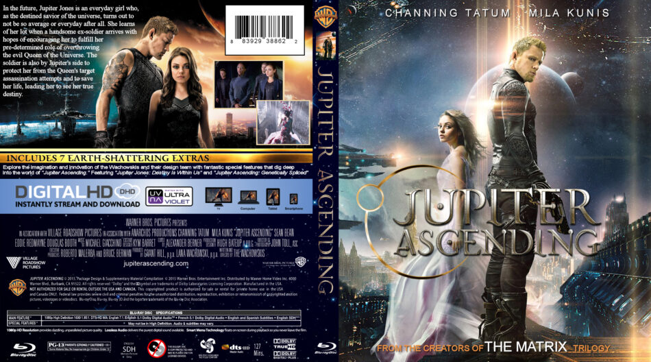 Jupiter Ascending 2015 R1 Blu Ray Cover Label Dvdcover Com