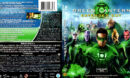GREEN LANTERN (EXTENTED CUT) (2011) BLU-RAY COVER & LABEL