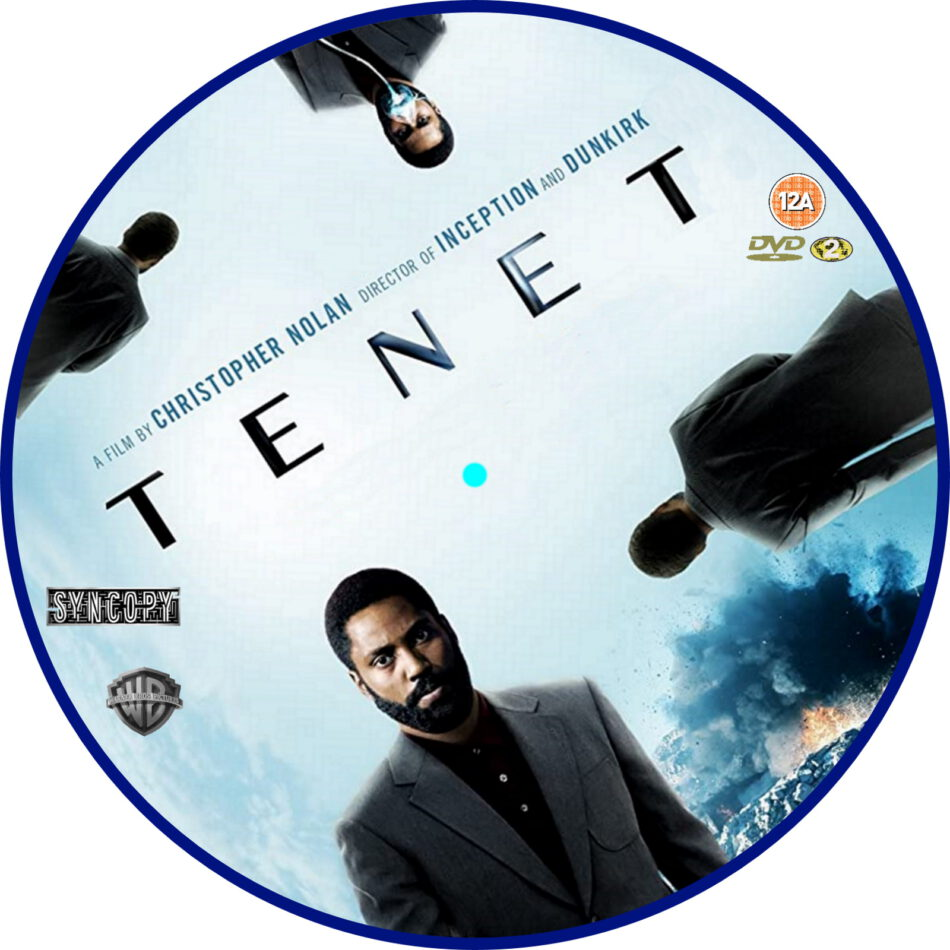 tenet  2020  r2 custom dvd label