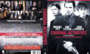 Criminal Activities (2016) R2 DE DVD Cover