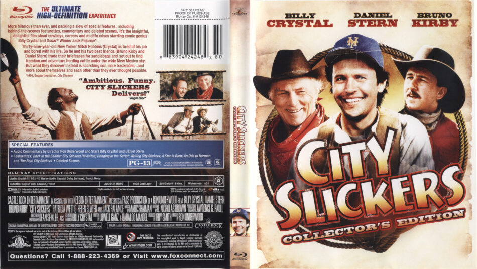 City Slickers 1991 Blu Ray Cover Label Dvdcover Com
