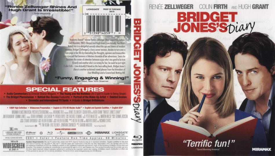 Bridget Jones S Diary 2001 Blu Ray Cover Label Dvdcover Com