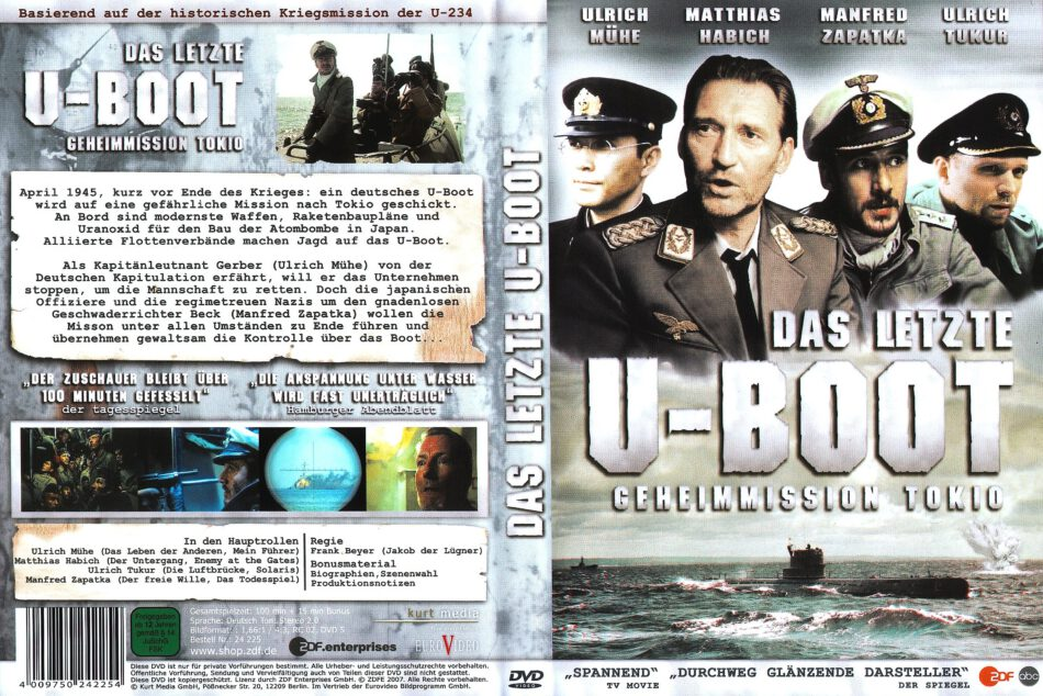 Das Letzte U Boot Geheimmission Tokio 2007 R2 De Dvd Cover Dvdcover Com