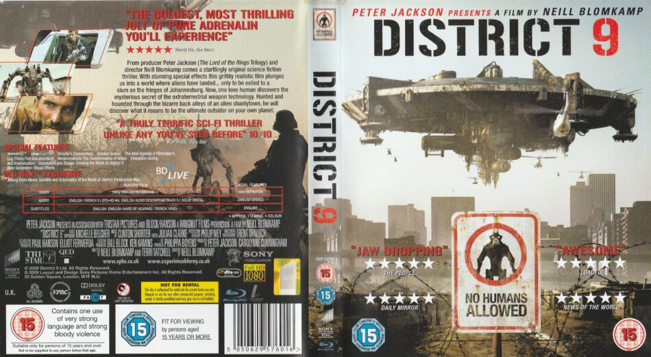 District 9 2009 R2 Blu Ray Cover Label Dvdcover Com