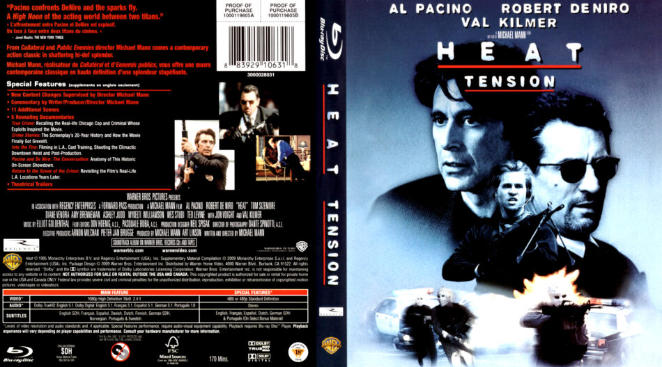Heat 1995 Blu Ray Cover Label Dvdcover Com