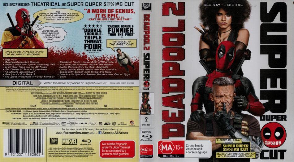Deadpool 2 2018 R4 Blu Ray Cover Dvdcover Com