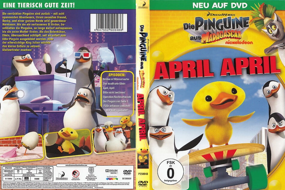 die pinguine aus madagascarapril april r2 de dvd cover