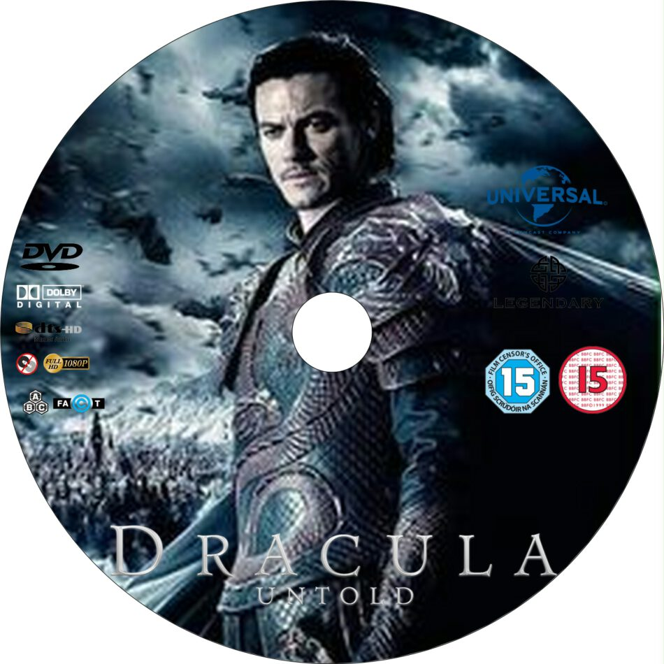 Dracula Untold 2014 Custom R0 And R2 Dvd Labels Dvdcover Com
