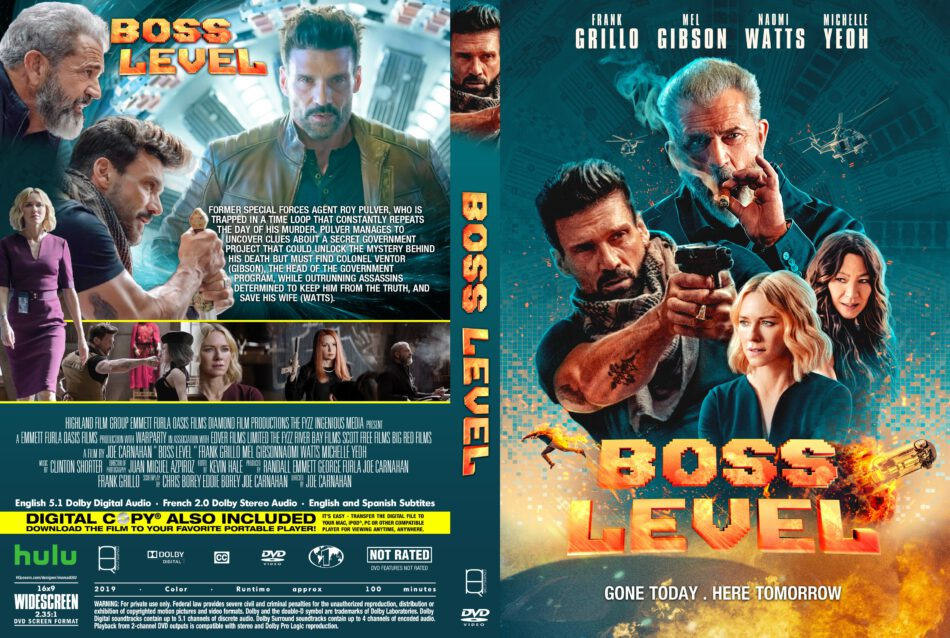 Boss Level (2019) R1 Custom DVD Cover - DVDcover.Com