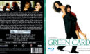 GREEN CARD (1990) BLU-RAY COVER & LABEL