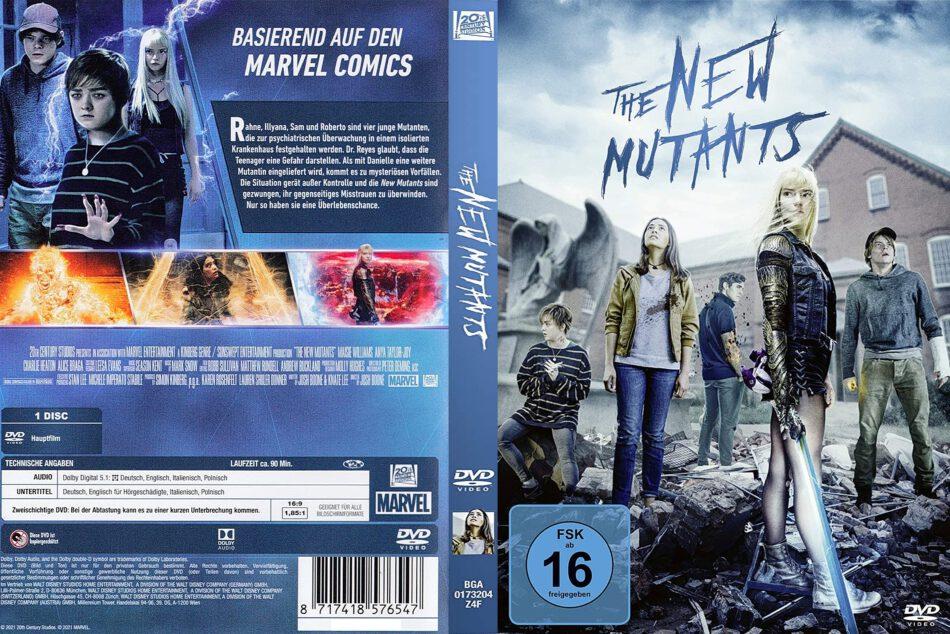 X-Men-The New Mutants (2021) R2 DE DVD Cover - DVDcover.Com