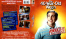 THE 40 YEAR OLD VIRGIN (2005) DVD COVER & LABEL