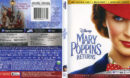 Mary Poppins Returns (2019) 4K UHD Cover & Labels