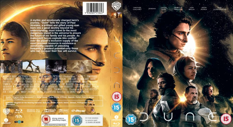 Dune 2021 Custom R2 Uk Blu Ray Cover And Labels Dvdcover Com