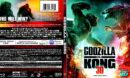 GODZILLA VS. KONG 3D (2021) BLU-RAY COVER & LABEL