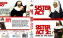 Sister Act Double Feature (1992-1993) Custom R2 UK Blu Ray Cover and Labels