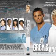 Grey`s Anatomy: Season 3 (Italian) – Front DVD Cover