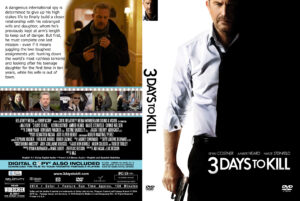 3 Days To Kill Custom DVD Cover