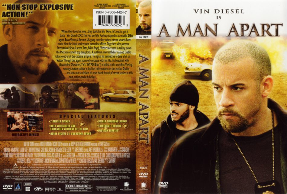 A Man Apart (2003) WS R1 - Movie DVD - CD Label, DVD Cover ...