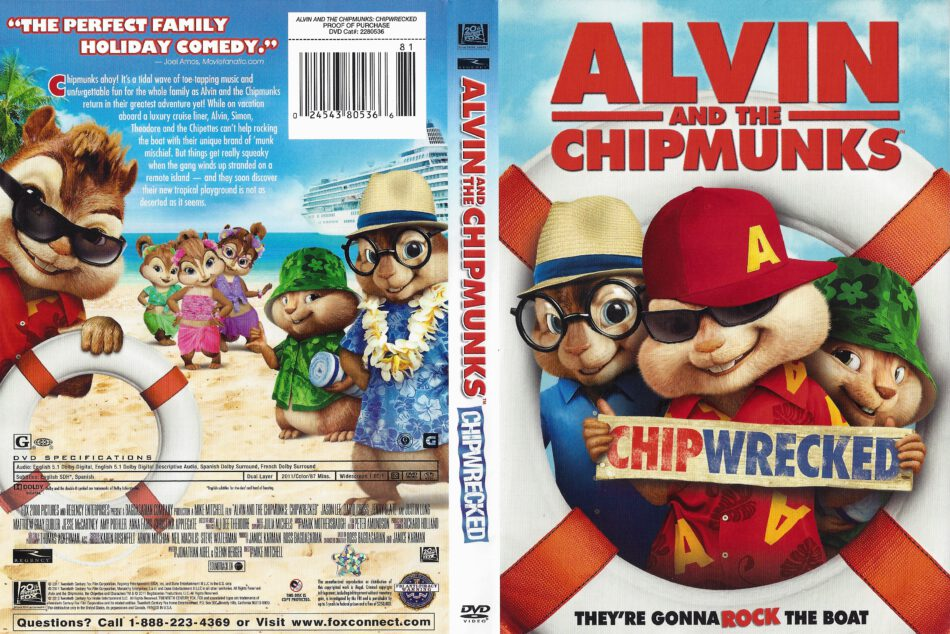 Alvin And The Chipmunks Chipwrecked 2011 Movie Dvd Cd Cover Dvd Cover Front Cover