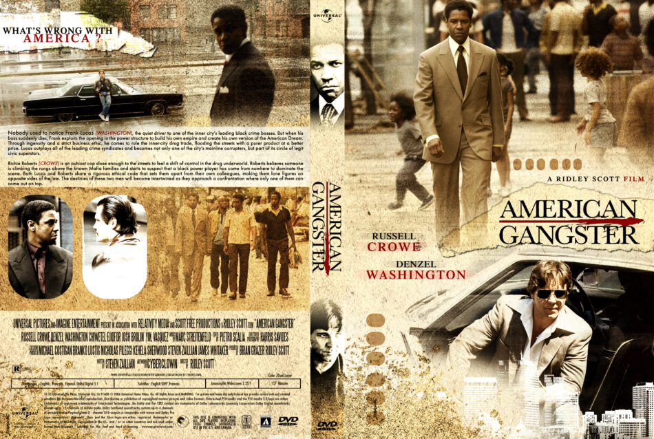 American Gangster 2007 R1 Movie Dvd Cd Label Dvd Cover Front Cover