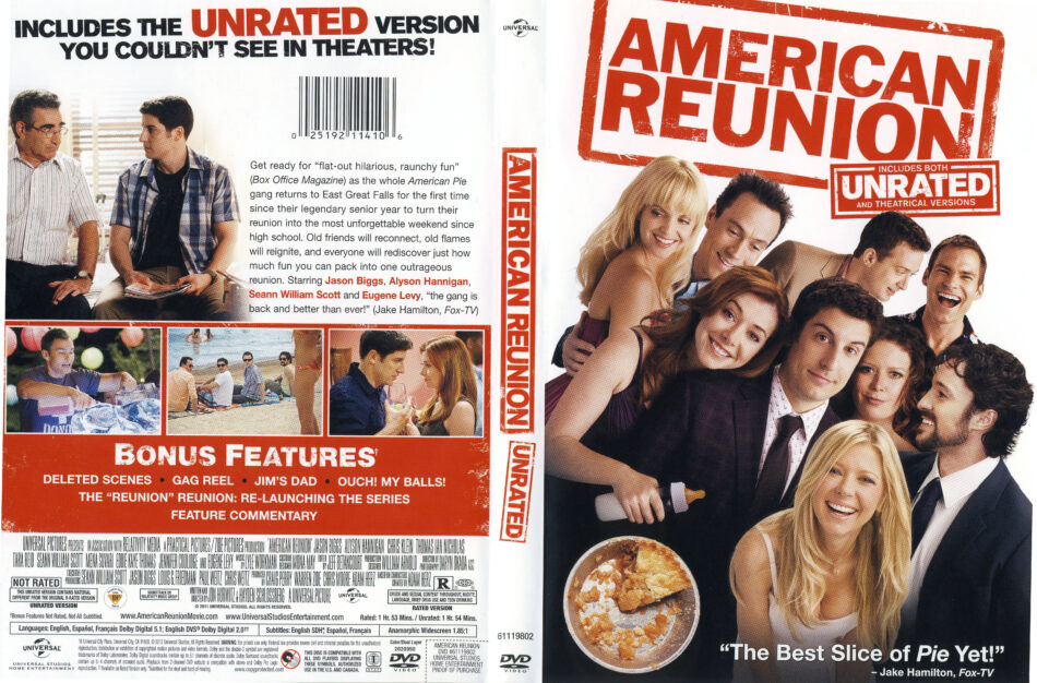 American Reunion 2012 R1 Movie Dvd Front Dvd Cover