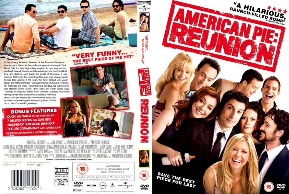 American Reunion 2012 Ws R2 Movie Dvd Cd Label Dvd Cover Front Cover