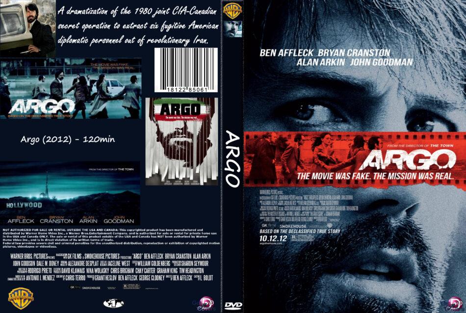 Argo 2012 R1 Custom Movie Dvd Cd Label Dvd Cover Front Cover