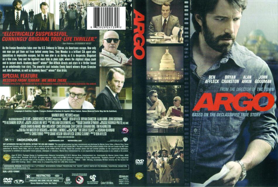 Argo 2012 R1 Movie Dvd Front Dvd Cover