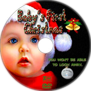 baby's first christmas dvd label