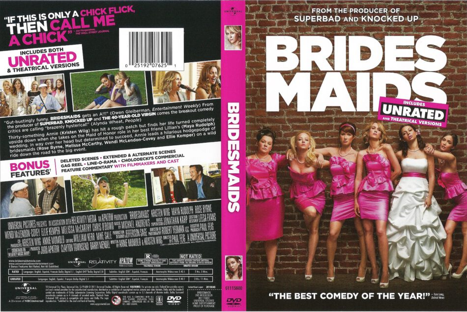 Bridesmaids 2011 Ws R1 Movie Dvd Cd Label Dvd Cover Front Cover