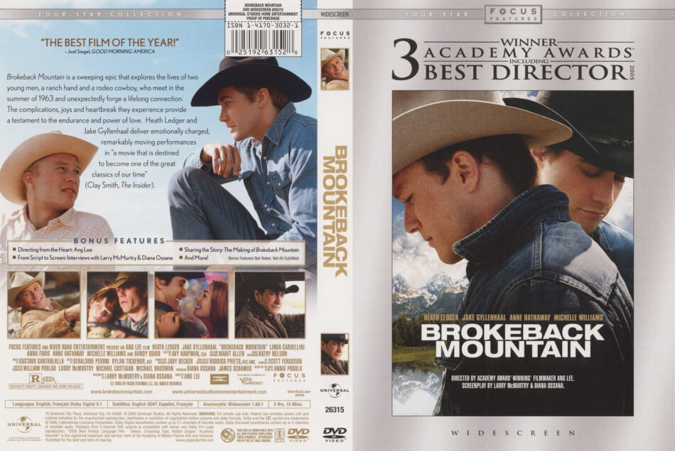 Brokeback Mountain 2005 Ws R1 Movie Dvd Cd Label Dvd Cover Front Cover