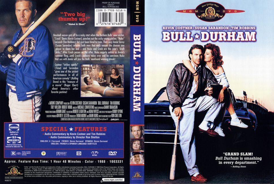 Bull Durham (1988) R1 - Movie DVD - Front DVD Cover