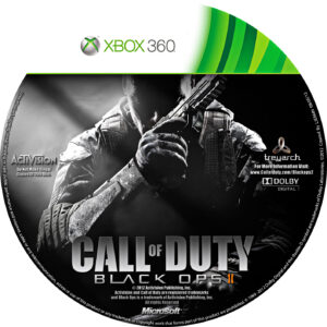 call of duty black ops 2 custom xbox 360 cd label