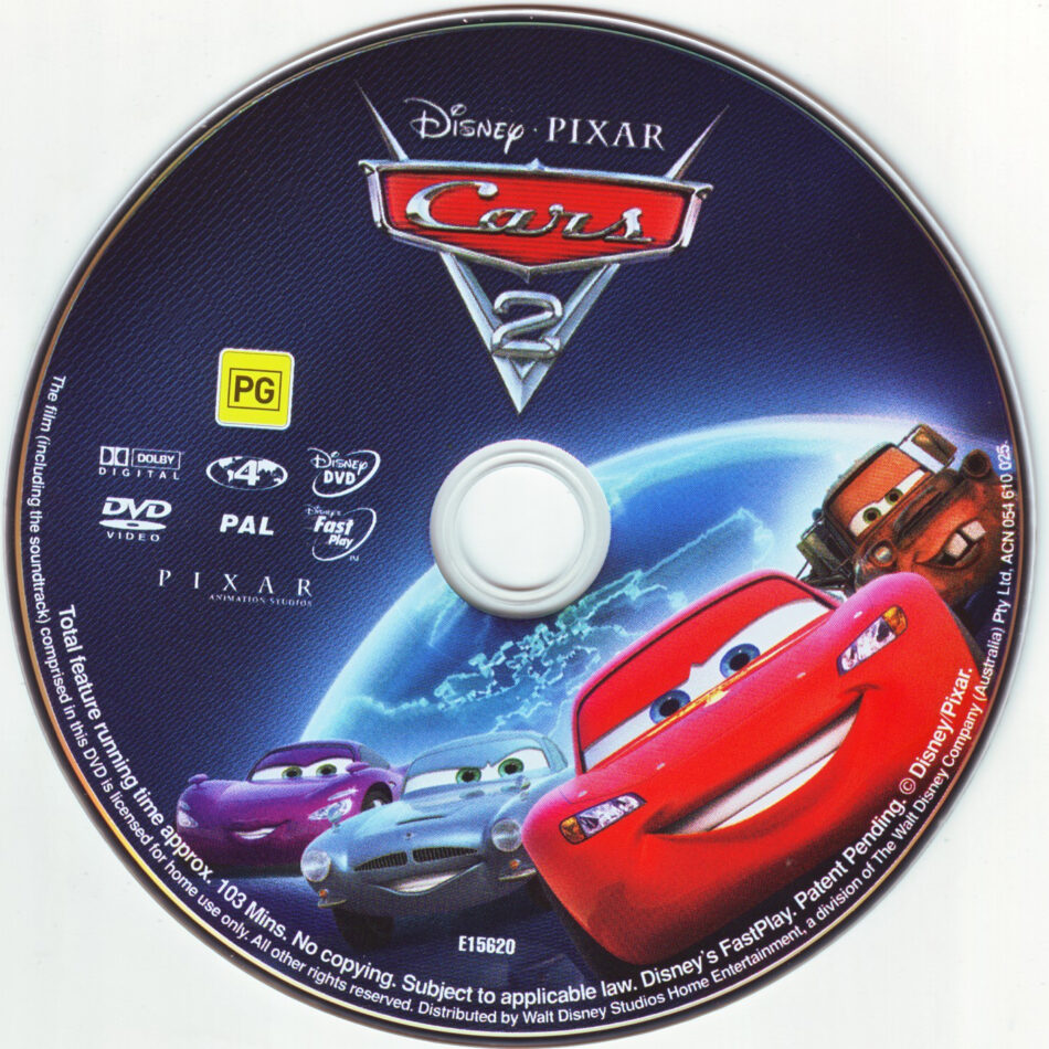 Cars 2 2011 Ws R4 Cartoon Dvd