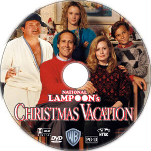 christmas vacation dvd label
