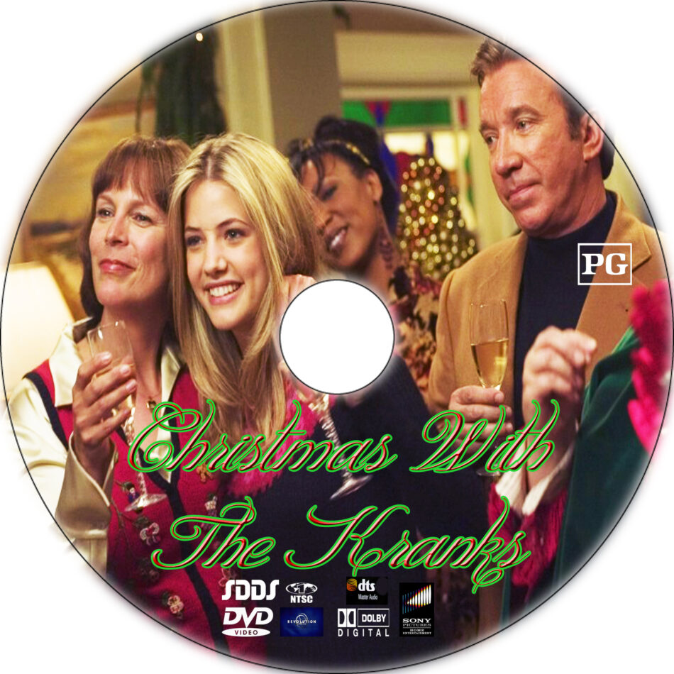 Christmas With The Kranks Dvd.Christmas With The Kranks Dvd Label 2004 R1 Custom Art