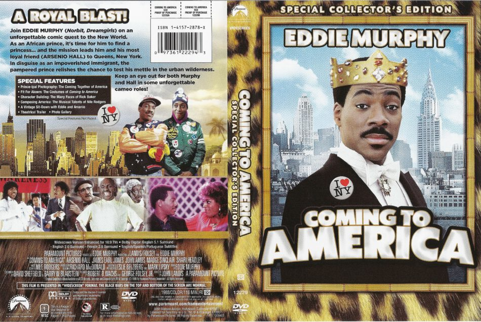 Coming To America 1988 Ws R1 Movie Dvd Cd Label Dvd Cover Front Cover