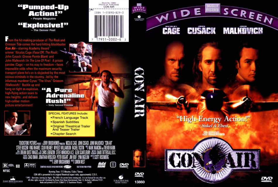 Con Air 1997 Movie Dvd Cd Cover Dvd Cover Front Cover