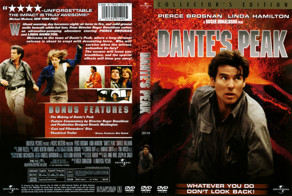 Dante S Peak 1997 Ws Ce R1 Movie Dvd Cd Label Dvd Cover Front Cover