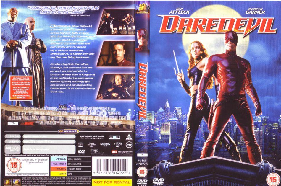 Daredevil 2003 R2 Movie Dvd Cd Label Dvd Cover Front Cover