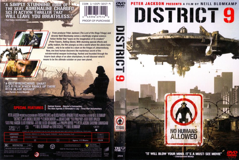 District 9 2009 Ws R1 Movie Dvd Cd Label Dvd Cover Front Cover
