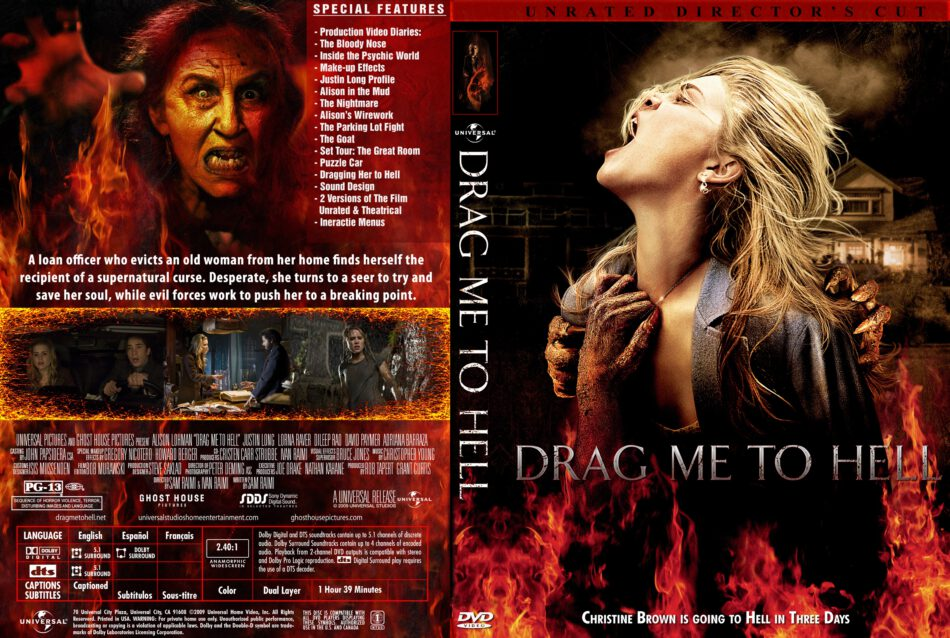 Drag Me To Hell 2009 Unrated Movie Dvd Front Dvd Cover