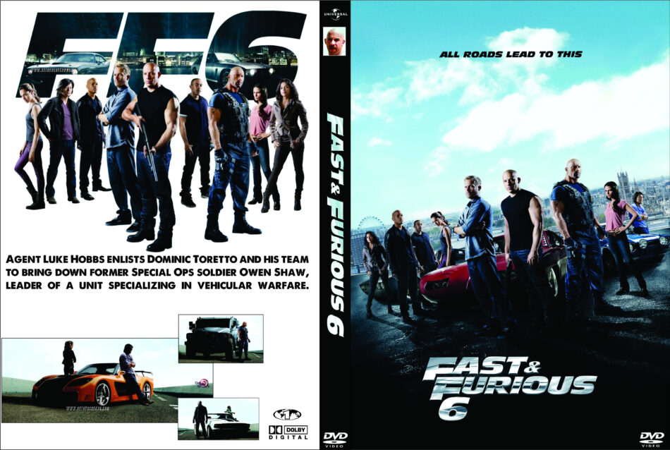 Fast Furious 6 2013 Ws R1 Custom Movie Dvd Front Dvd Cover