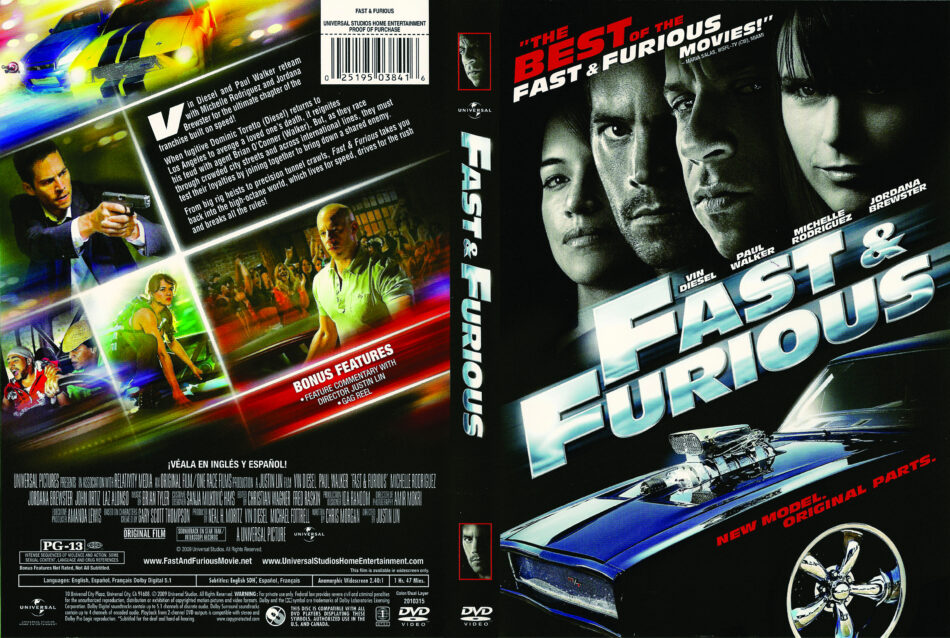 Fast Furious 2009 Ws R1 Movie Dvd Front Dvd Cover