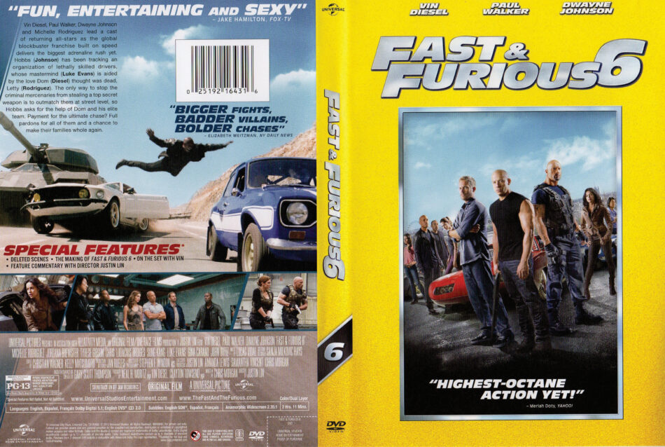 Fast Furious 6 Dvd Cover 2013 R1