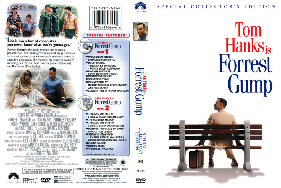 Forrest Gump 1994 Ws Ce R1 Movie Dvd Cd Label Dvd Cover Front Cover