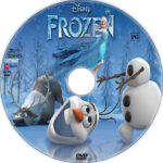 Frozen (2013) R1 Custom DVD label