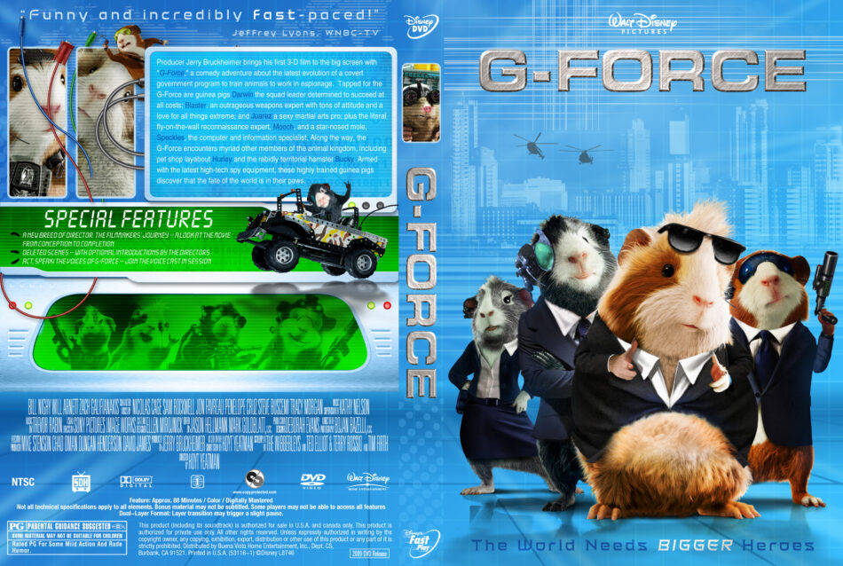 G Force 2009 R1 Movie Dvd Cd Label Dvd Cover Front Cover
