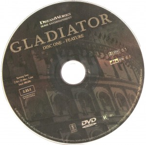 Gladiator 2000 Ws R1 Movie Dvd Cd Label Dvd Cover Front Cover